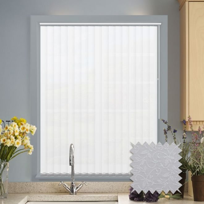 White Vertical Blinds - Made to Measure vertical blind in Willow White - Just Blinds